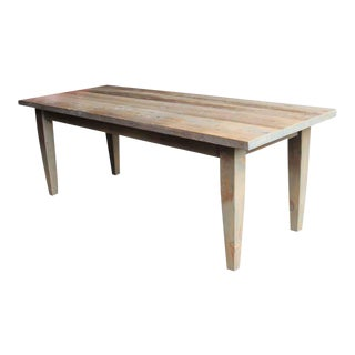 Light Driftwood Stain Farm Table