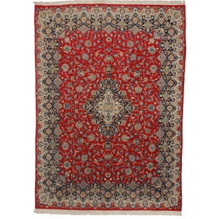 Hand Knotted Persian Kerman Rug - 9′ × 12′5″