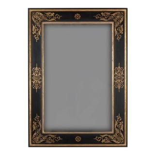 Vintage Baroque Style Black & Gold Leaf Mirror