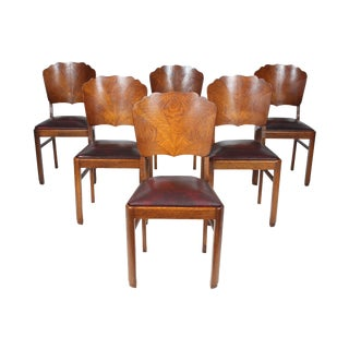 Art Deco-Style Dining Chairs - Set of 6