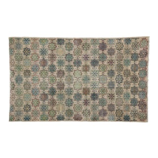 Zeki Muren Distressed Vintage Turkish Sivas Rug - 5′7″ × 9′1″