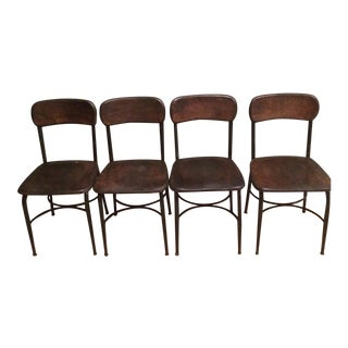 Vintage School Chairs - Set of 4