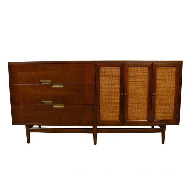 Image of American of Martinsville Walnut Dresser Sideboard