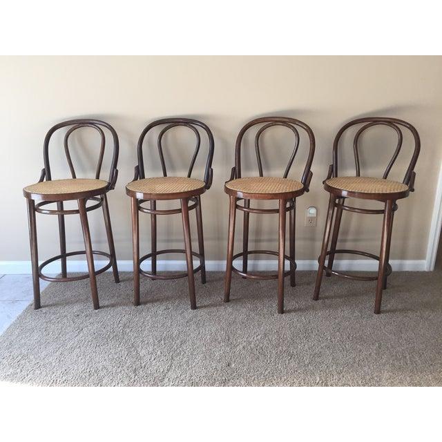 Thonet Style Bentwood Bar Stools - Set of 4 - Image 11 of 11