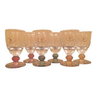 Handmade Cristalleria Fratelli Fumo Cordial Glasses - Set of 6