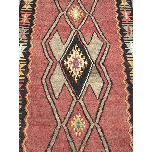 Vintage Turkish Kilim Runner Rug - Image 6 of 10