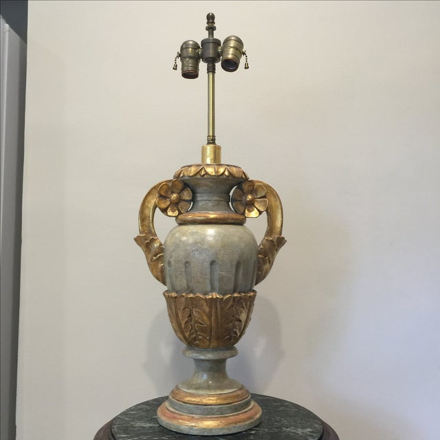 Vintage Italian Painted Urn Form Table Lamp - Image 2 of 9
