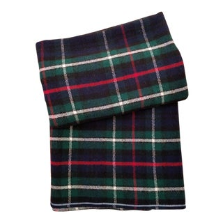 Mackenzie Scottish Wool Plaid Queen Blanket