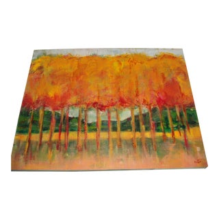 Autumn Trees Oil Painting by Sue McKee