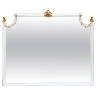 Hollywood Regency Giltwood Wall Console Mirror
