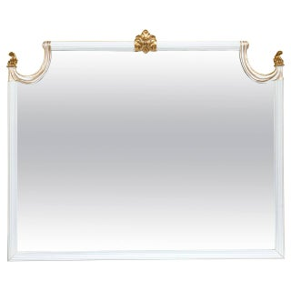 Hollywood Regency Giltwood Wall Console Mirror