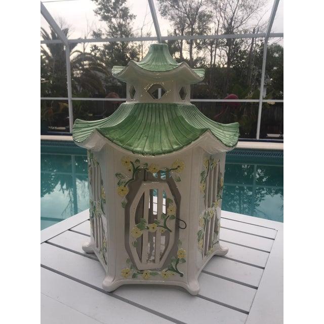 Image of Italian Ceramic Pagoda Birdhouse