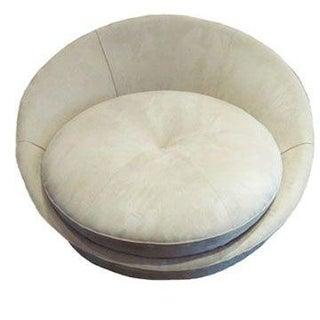 Milo Baughman Circular Lounge Chair for Two