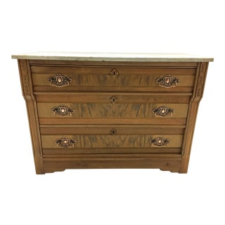 19th C. Mahogany & Marble Chest