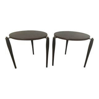 Atomic Tri Leg Side Tables - A Pair