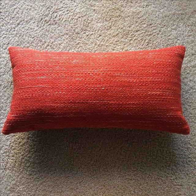 Mid Century Modern Lumbar Pillows : Knoll Mid Century Modern Lumbar Pillow in Paprika Chairish