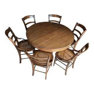 Antique Round Oak Dining Set