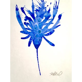 """Blue Bird 2"" Watercolor Painting"