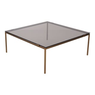 Elegant Brass and Glass Coffee Table in the Manner of Maison Jansen