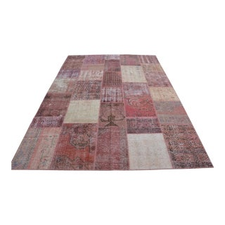 Pink Overdyed Patchwork Rug - 6′10″ × 9′10″