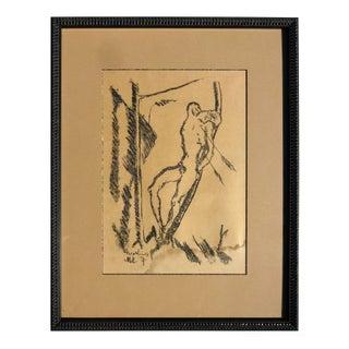 "1917 Hugo Kunz ""St. Sebastian"" lithograph"