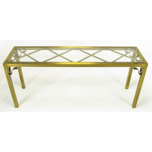 Mastercraft Brass Chinese Chippendale Console Table - Image 3 of 8