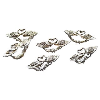 Swans & Hearts Napkin Rings - Set of 6