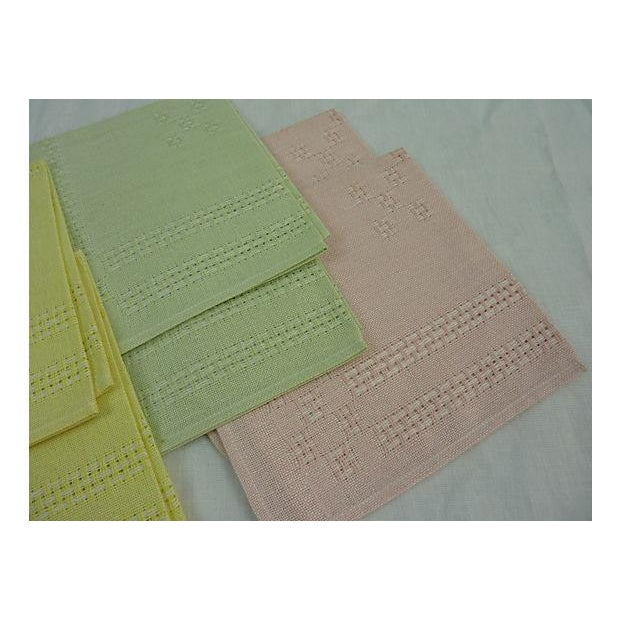 German Pastel Napkins - Set of 6 - Image 5 of 5