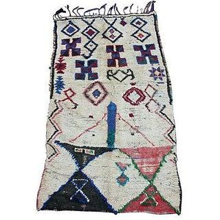 Moroccan Azilal Wool Rug - 6'5'' X 3'4''