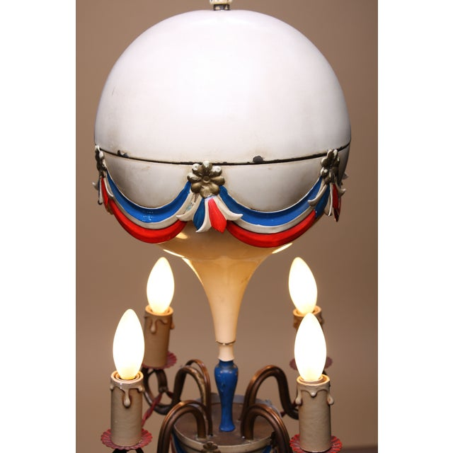 1950's French Hot-Air Balloon Chandelier - Image 3 of 5