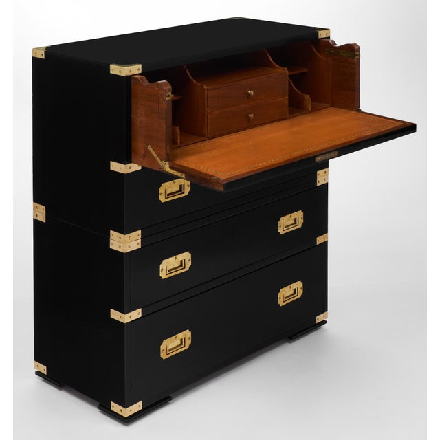 Image of English Campaign Style Secretary Chest