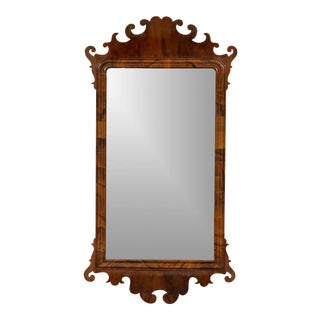 George III Walnut Fret Mirror