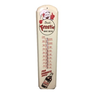 1950s Frostie Root Beer Thermometer