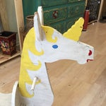 Image of Hand Made Rustic Rocking Unicorn