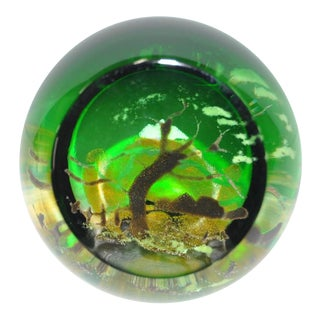 "Caithness ""Spring Symphony"" Glass Paperweight"