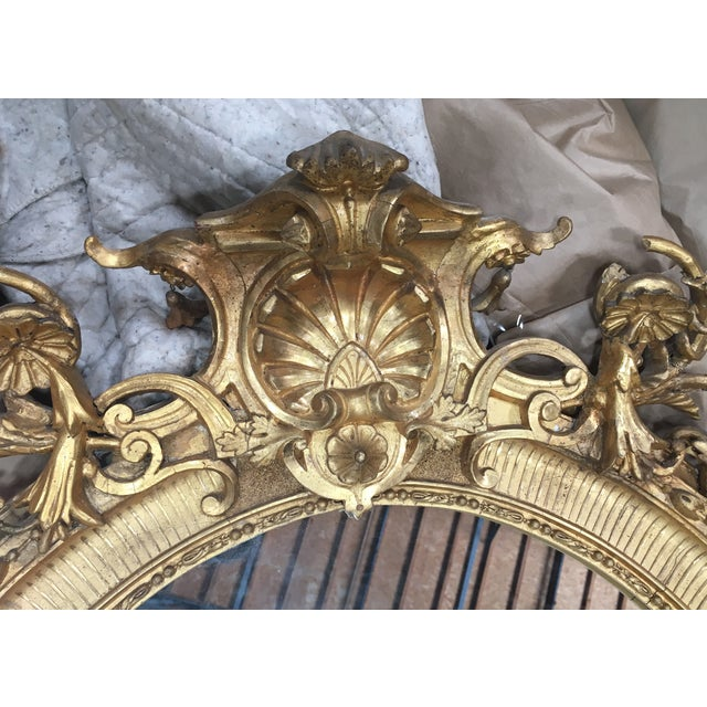 Carved Italian 22K Gold Giltwood Mirror - Image 3 of 5