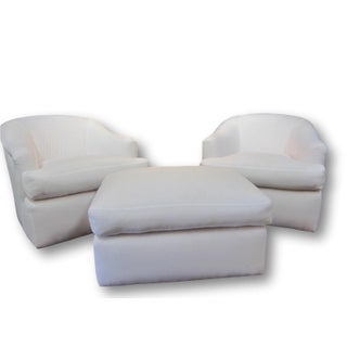 A. Rudin Swivel Chairs & Ottoman