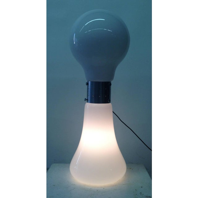 1970's Floor Light with Opaque Glass Base - Image 6 of 10
