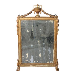 Early 18th Century Italian Giltwood Mirror