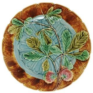 Vintage Lychee Fruit Majolica Plate