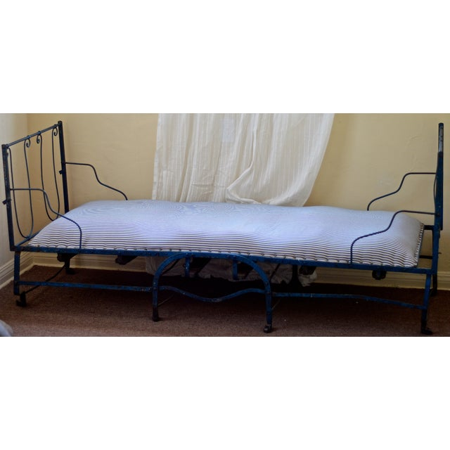 Image of 19th Century Antique French Scrolling Iron Daybed