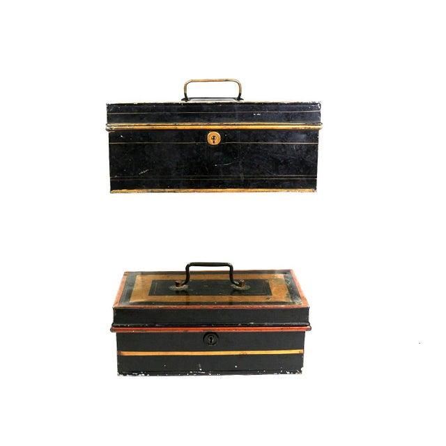 1920s English Metal Cash Boxes - Set of 3 - Image 4 of 6