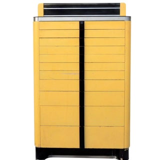 Art Deco Style Dental Cabinet in Yellow