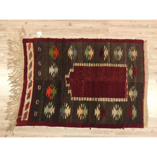 Vintage Turkish Tribal Angora Rug - 3′3″ × 4′5″ - Image 3 of 7