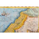 Image of Antique Map of Palestine 1618 by Ortelius Abraham