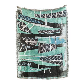 'Tiebele' Woven Throw Blanket