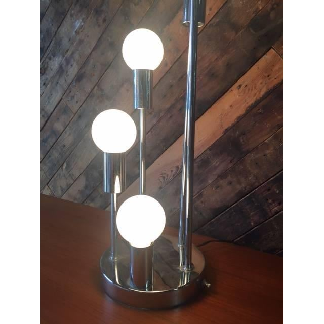 Image of Mid-Century Chrome Cascading Table Lamp