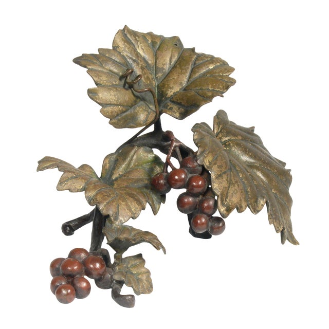 Bronze Grapes Decorative Object - Image 1 of 5