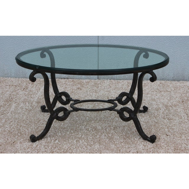 Wrought Iron Coffee Table With Drawers: 1960's French Wrought Iron Coffee Table