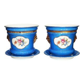 Carl Tielsch Porcelain Planters - A Pair